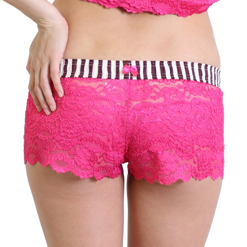Fuchsia Lace Boxers with Pink Cocoa FOXERS Band