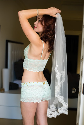 Mint Lace wedding lingerie