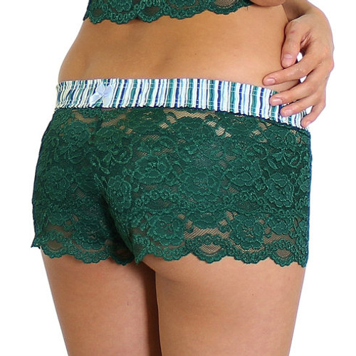 Forrest Green Lace Boxer Briefs