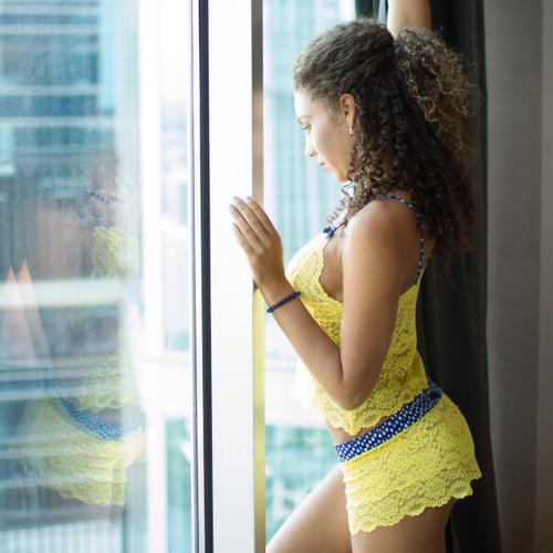 Yellow lace undies