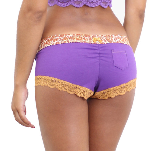 Purple Boyshorts Panties