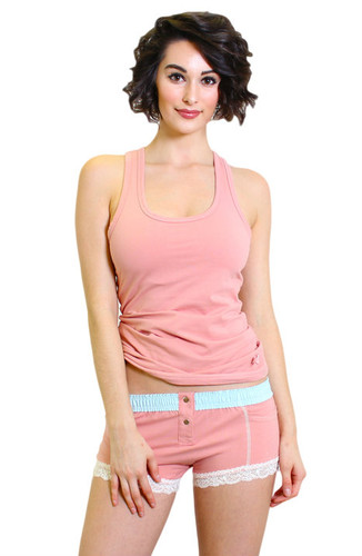 French Rose Boxer Brief and Matching Tank Top
