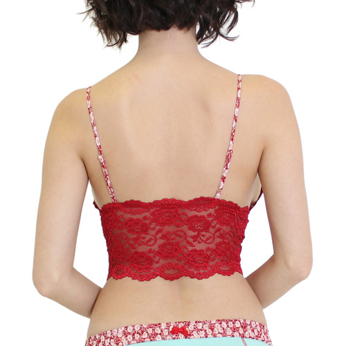 Red Lace Lingerie Top