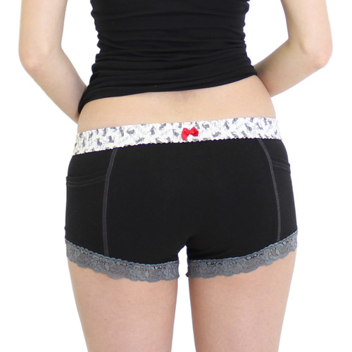 Black Hipster Boxer Briefs