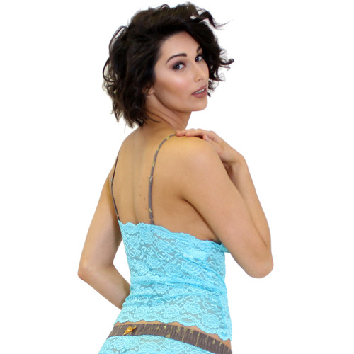 Turquoise Lace Camisole Lingerie Top