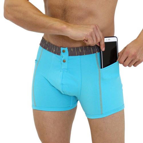 Foxers Men's Boxer Briefs Pockets can even hold a phone!