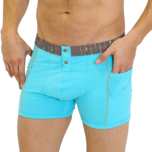 Men's Turquoise Boxer Briefs