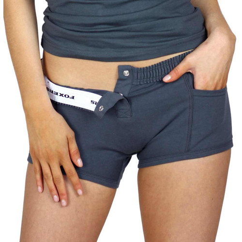 Charcoal Gray Tomboy Boxer Briefs Women's Underwear