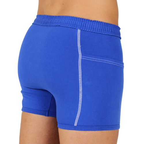 Blue Boxer Briefs with Athletic Scrunch Waistband