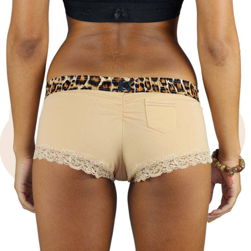 Leopard Print and Nude Cotton Boyshorts
