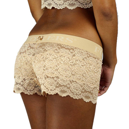 Nude Lace Boxers with Foxers Logo Band