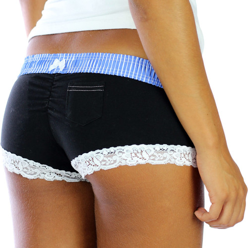 10 Year Anniversary Blue over Black Boyshort Panties
