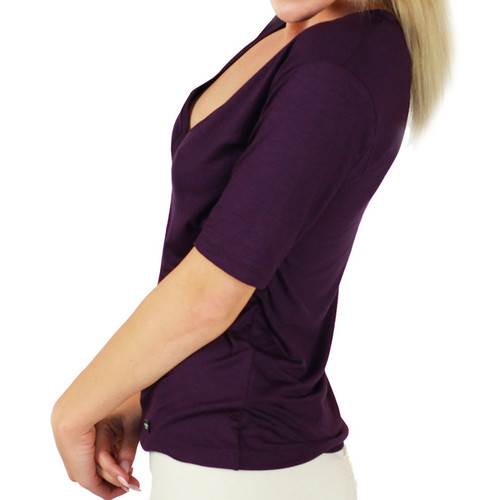 Plum Perfect Deep V T-shirt