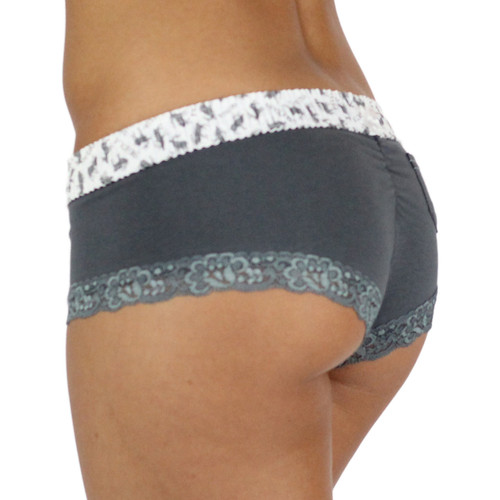 Gray Boyshorts with Elk Waistband