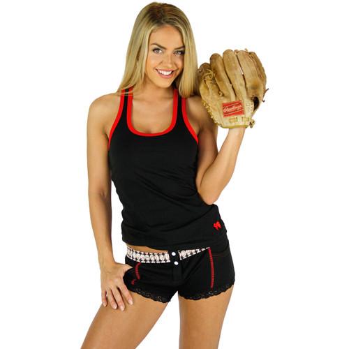 Loren sporting her Foxers Baseball Boxer Briefs