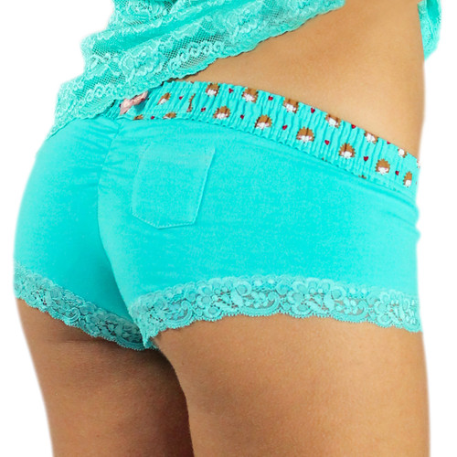 Ocean Turquoise Panties with Hedgehog Waistband (FXBOY-67140)
