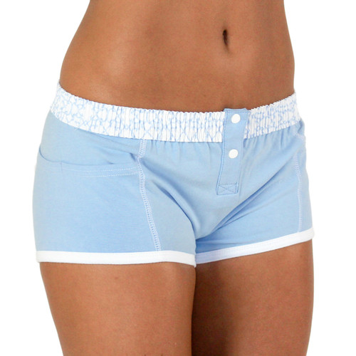 Lt Blue Tomboy Boxer Brief with Trellis FOXERS Band
