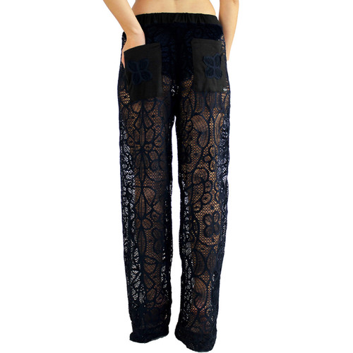 Deep Back Pockets with Applique Detail