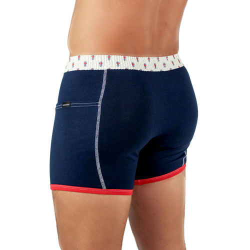 Navy Boxers with Pockets For Guys