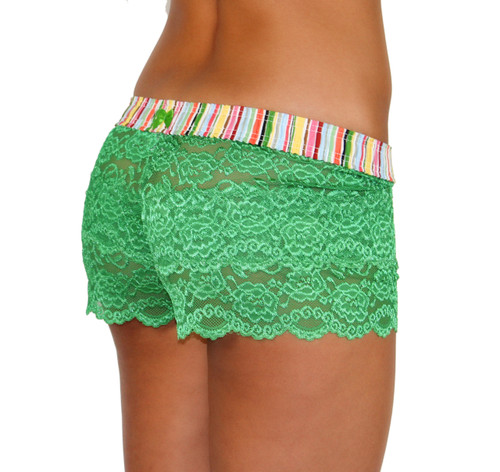 Kelly Green Lace Boxers Cruise Stripe