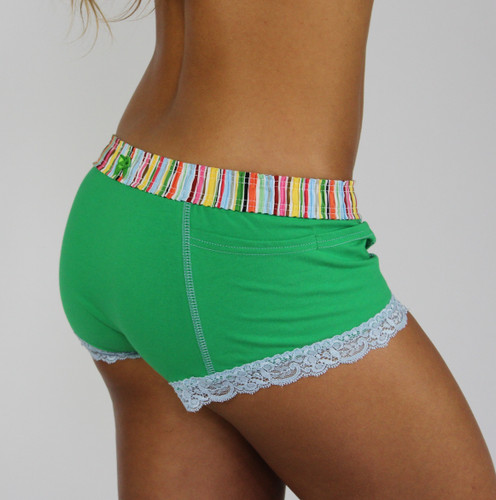 Kelly Green Boxer Brief with Cruise Stripe Waistband