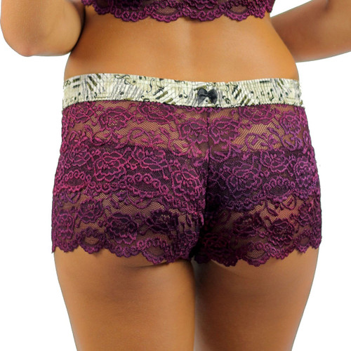 Lace boxers for women