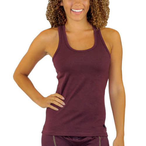 FOXERS Fig Racerback with Shelf Bra