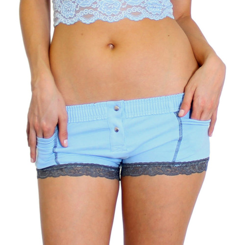 Light Blue Boxer Brief with Gray Accents