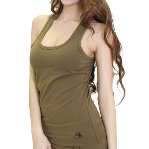 Olive Racer Back Bra Tank Top