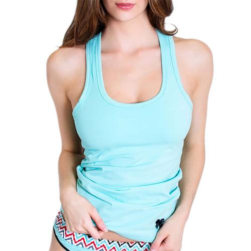 Womens Light Turquoise Tank Top