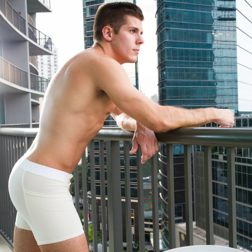 Ivory Boxer Underwear with Flat Waistband