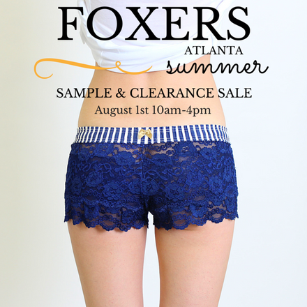 FOXERS Summer 2015 Sample Sale at our Atlanta Office