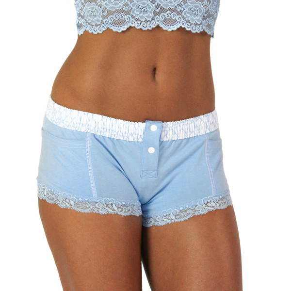light blue boxer brief with trellis band