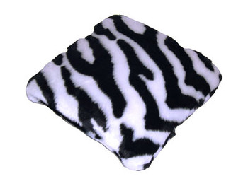 Zebra Print Fur Pillow