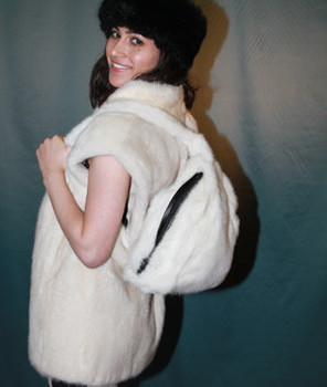 Buy Back Pack Bag Mink Fur