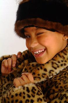 Kids Faux Leopart Jacket