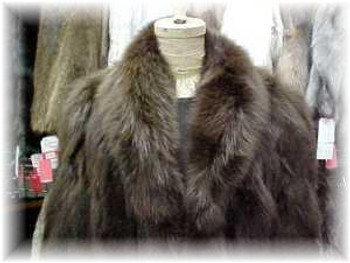 Brown Fox Fur Jacket