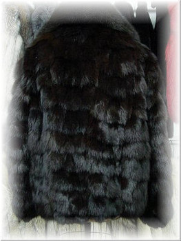 Brown Fox Bomber Fur Jacket 2