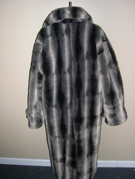 Men's Brown Faux Chinchilla Long Coat