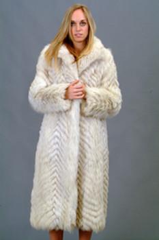 Vintage Blue Fox Coat
