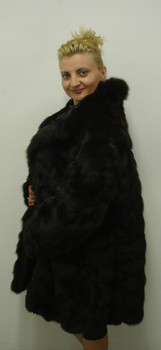 Brown Fox Fur 3/4 Jacket