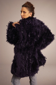 Elegant Ostridge Feather Jacket
