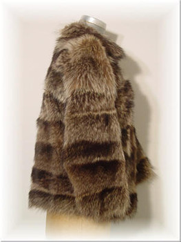 Full Skin Raccoon Fur Jacket with Raccoon Fur Collar 1