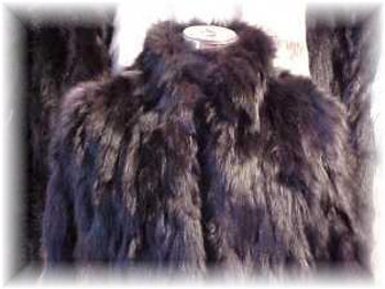 Black Fox Sectional Fur Jacket