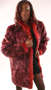 Purple Coat and Red Cuffs Fox Tuxedo