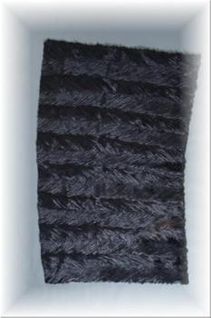 Black Mink Fur Tails Plate