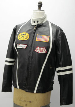 Leather Mens Black Motorcycle Jacket