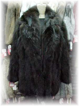 Brown Fox Fur Stroller