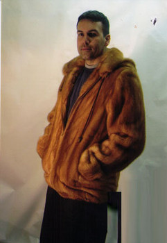 Mens Mink Full Pelt Bomber Fur Jacket 6