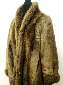 Vintage Fur Long Hair Beaver Woman's Jacket